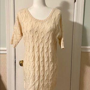 Motherhood Knit Cream Sweater Size M